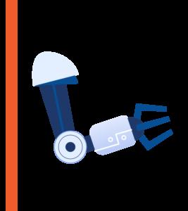Mechanical robot arm graphic