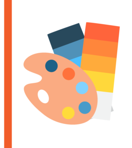 Artist pallet and Colour Cards graphic