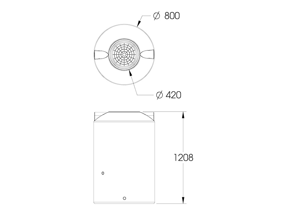 AP 500 Round Tank Dimensions