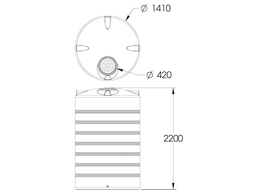 ART 3000 Round Tank Dimensions