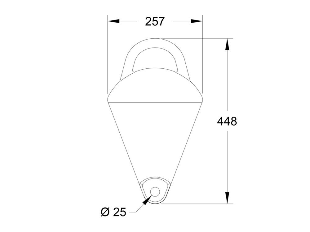 Mooring Buoy MB10 Dimensions