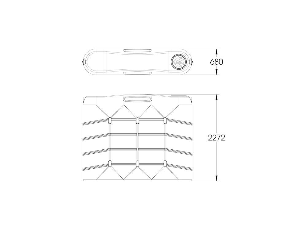 SLR 4B 3000 Slimline Tank Dimensions