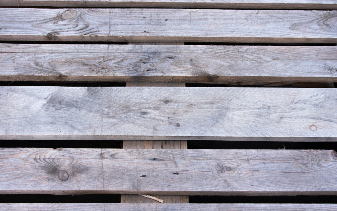 close up of wooden pallet boards