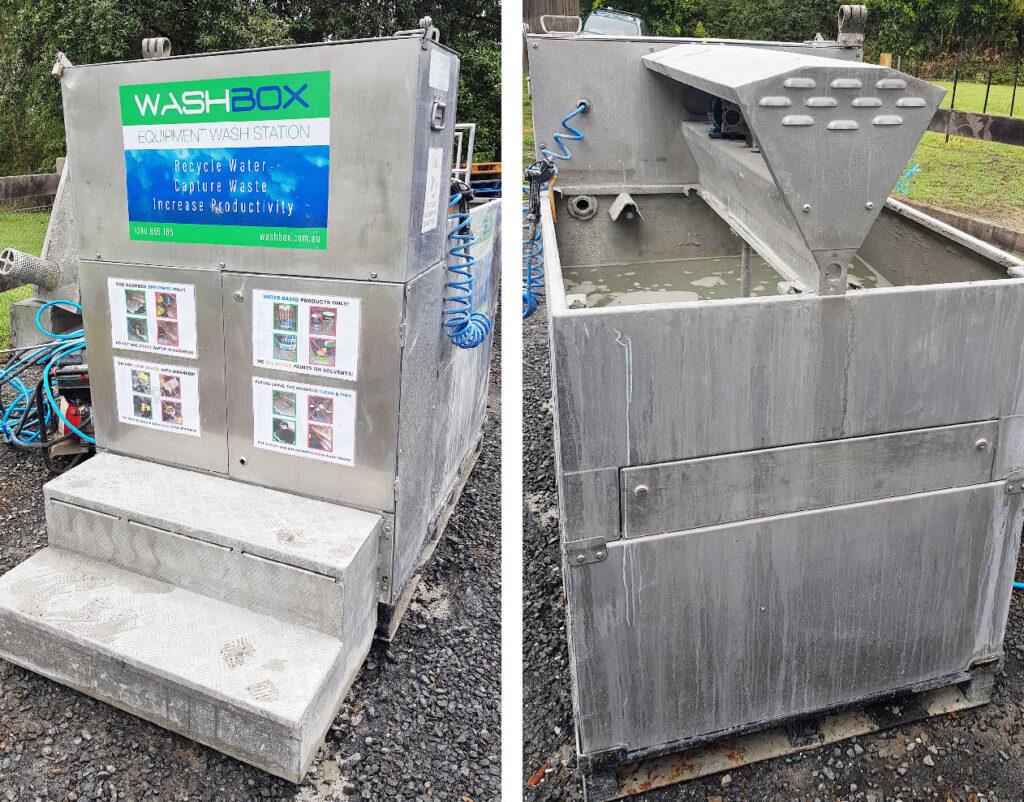 Stainless steel washbox