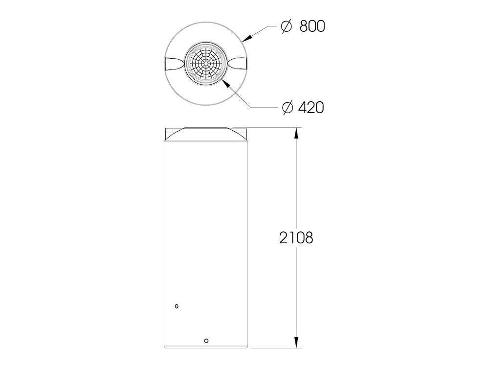 AP 1000 Round Tank Dimensions