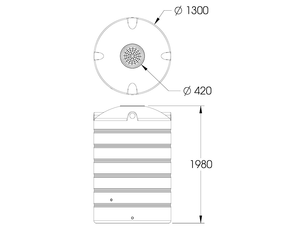 AP 2000 Round Tank Dimensions