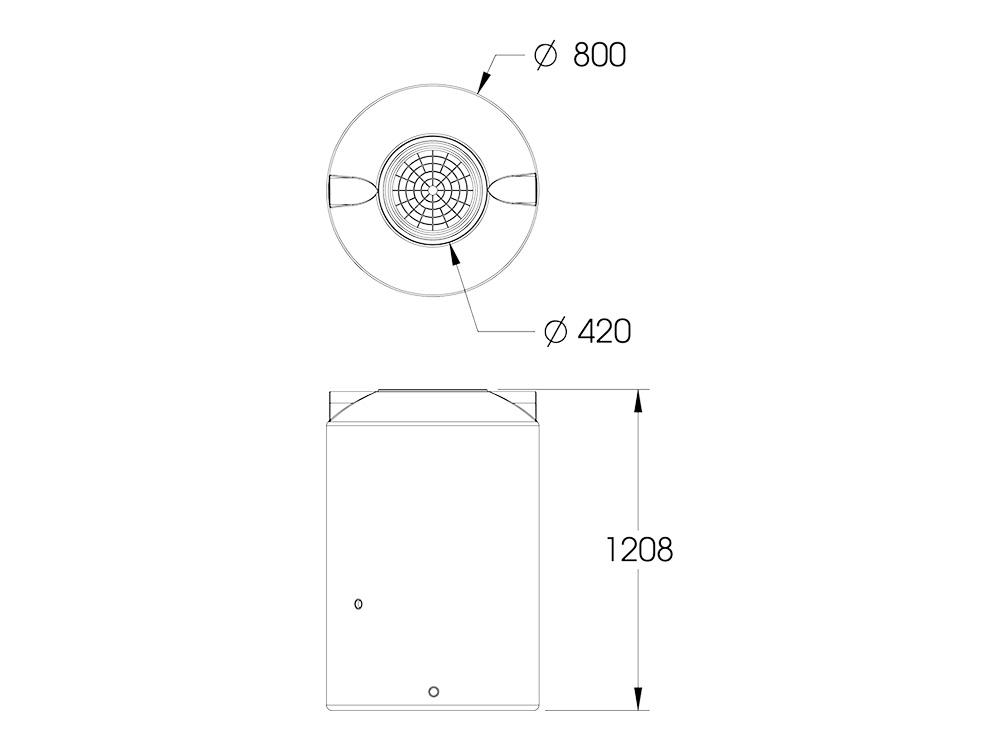 AP 500 Round Tank Dimensions