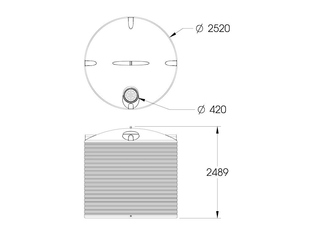 ART 10000 Round Tank Dimensions