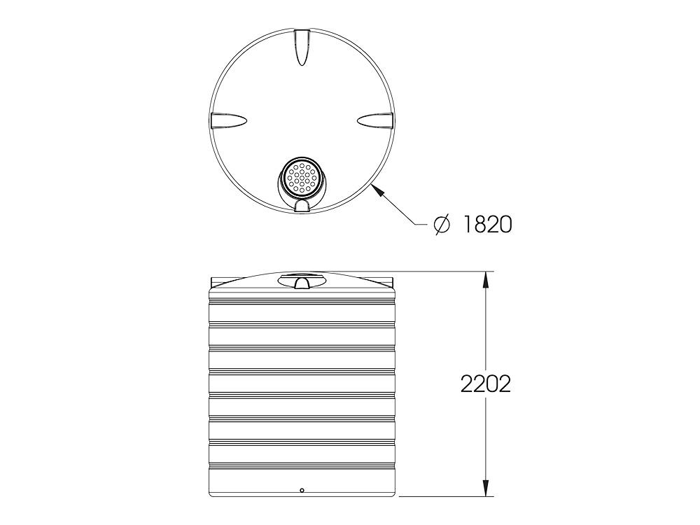 ART 5000 Round Tank Dimensions
