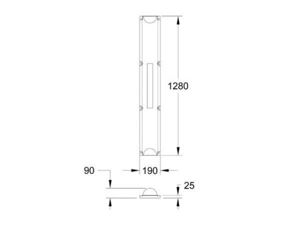 Narrow Bar Float - Dimensions