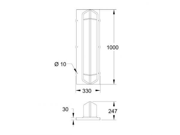 Large Bar Float - Dimensions