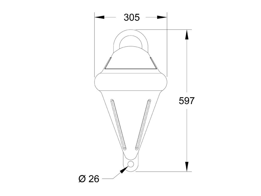 Mooring Buoy MB12 Dimensions