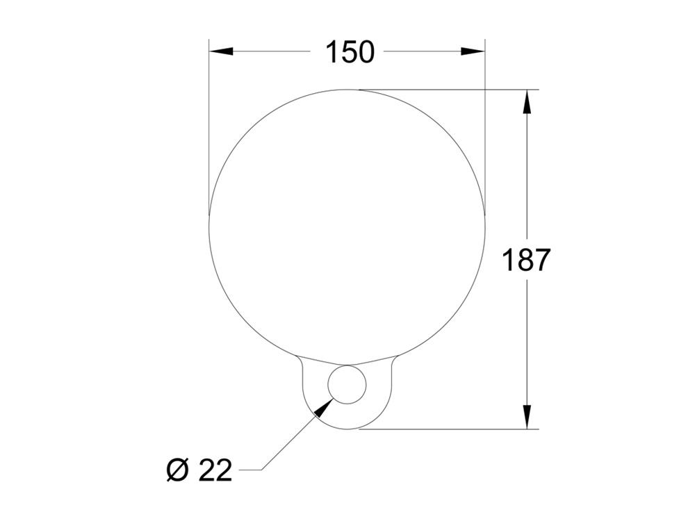 Mooring Buoy MB6 Dimensions